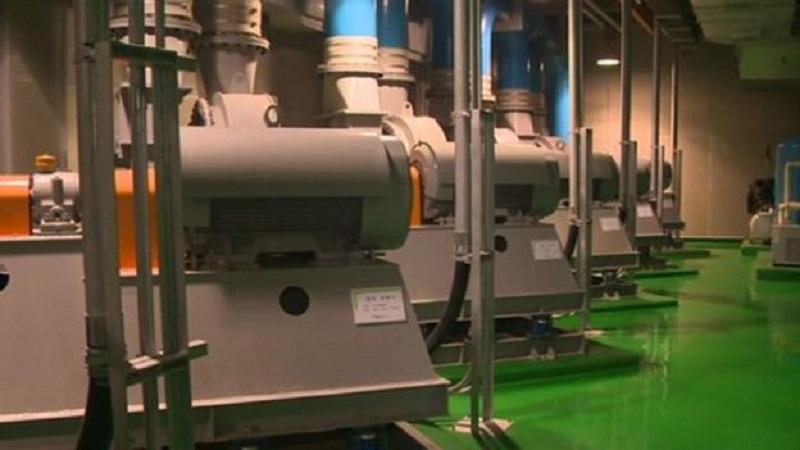 Trung tâm xử lý rác thải tại Songdo.