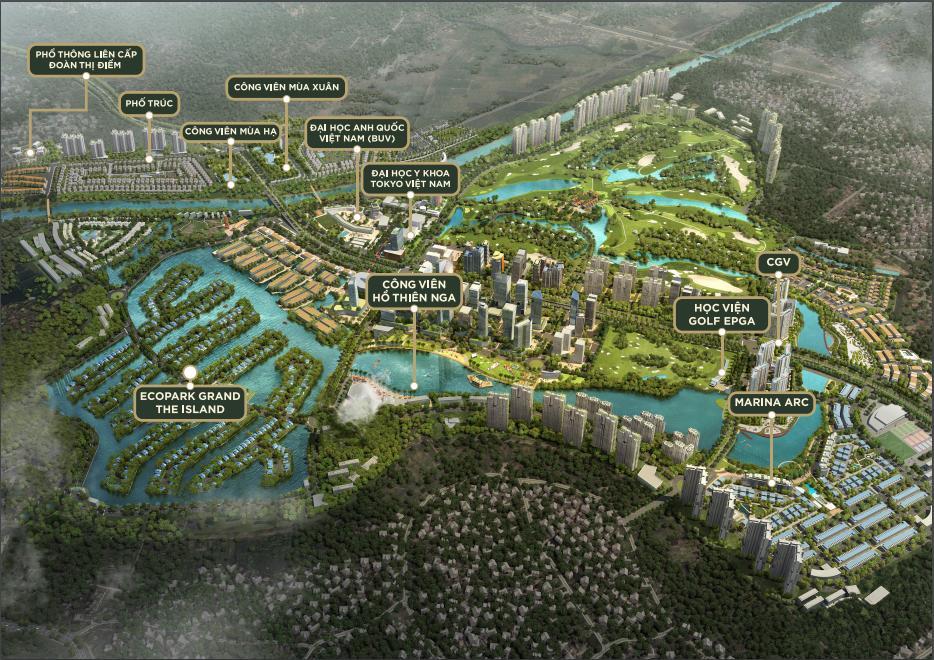 Tiện ích tổng quan dự án ecopark grand the island
